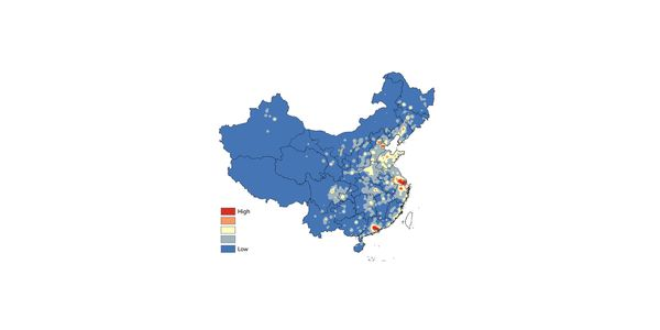 Grid Map: Industrial Output Value of China