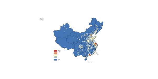 Grid Map: Industrial Output Value of China, 2001-2010